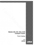 Case 220, 222, 224 and 444 Tractor - Parts Catalog
