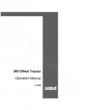 Case IH 265 Tractor Manual