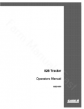 International 826 Tractor Manual