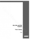 International 234, 244 and 254 Tractor - Parts Catalog