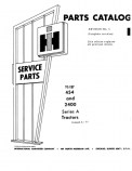 International 454 and 2400 and Tractor - Parts Catalog