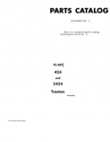 International 424 and 2424 Tractor - Parts Catalog