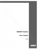 International 330, 340 and Farmall 340 Tractor - Parts Catalog
