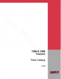 International 7288 and 7488 Tractor - Parts Catalog