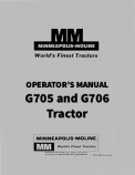 Minneapolis-Moline G705 and G706 Tractor Manual