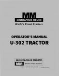 Minneapolis-Moline U-302 Tractor Manual