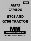 Minneapolis-Moline G705 and G706 Tractor - Parts Catalog