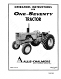Allis-Chalmers 170 Tractor Manual