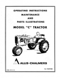Allis-Chalmers C Tractor Manual