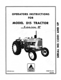 Allis-Chalmers D15 Series II Tractor Manual