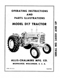 Allis-Chalmers D17 Series II Tractor Manual