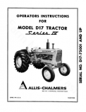 Allis-Chalmers D17 Series IV Tractor Manual