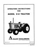 Allis-Chalmers D21 Series 1 (3400 Engine) Tractor Manual