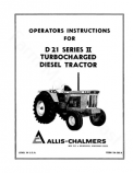Allis-Chalmers D21 Series 2 (3500 Engine) Tractor Manual