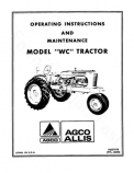 Allis-Chalmers WC Tractor Manual