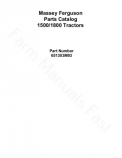Massey Ferguson 1500 and 1800 Tractor - Parts Catalog