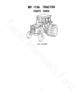 Massey Ferguson 1155 Tractor - Parts Catalog