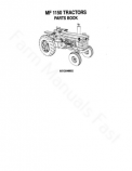 Massey Ferguson 1150 Tractor - Parts Catalog