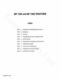 Massey Ferguson 1500 and 1800 Tractor - Service Manual