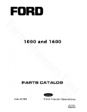 Ford 1000 and 1600 Tractor - Parts Catalog