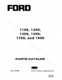Ford 1100, 1200, 1300, 1500, 1700, and 1900 Tractor - Parts Catalog