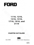 Ford 1110, 1210, 1310, 1510, 1710, 1910, and 2110 Tractor - Parts Catalog