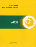 John Deere 650 and 750 Tractor - Parts Catalog