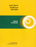 John Deere 54 Manure Spreader - Parts Catalog
