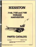Hesston 7140, 7150, and 7160 Forage Harvester - Parts Catalog