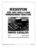 Hesston 6550, 6555, and 6655 Windrower - Parts Catalog