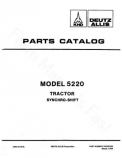 Deutz Allis 5220 Tractor - Parts Catalog