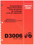 Deutz Fahr D3006 Tractor - Parts Catalog