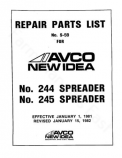 New Idea 244 and 245 Manure Spreader - Parts Catalog