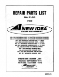 New Idea 303, 305, 306, 307, 308, 315, 316, 317, 319, 320 and 322 Harvesters - Parts Catalog