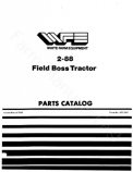 White 2-88 Field Boss Tractor - Parts Catalog