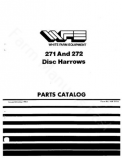 White 271 and 272 Disc Harrow - Parts Catalog