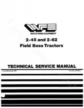 White 2-45 and 2-62 Tractor - Service Manual