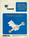 Bobcat 500, 600, 600D, 610, and 611 Skid Steer Loader - Service Manual