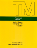 John Deere 650 and 750 Tractor - Service Manual
