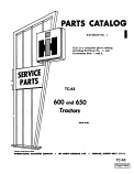 International 600 and 650 Tractor - Parts Catalog