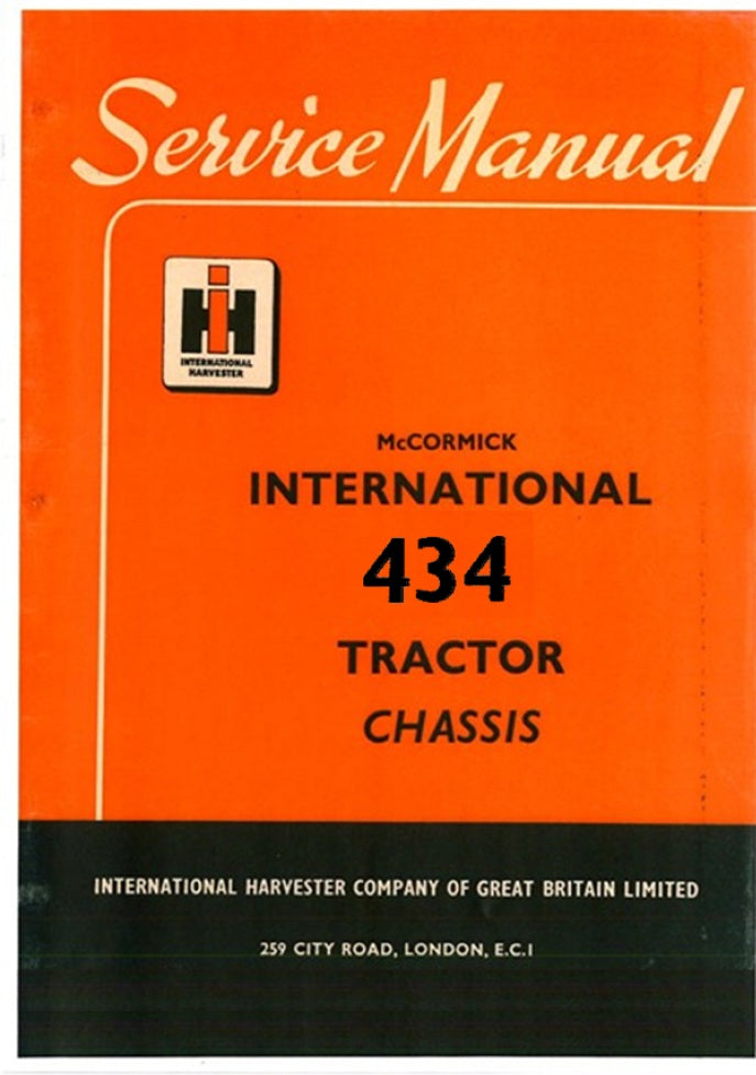 international 434 tractor service manual farm manuals fast rh farmmanualsfast com International 444 Tractor Diesel Tractor McCormick 434
