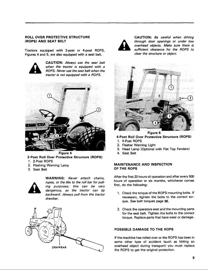 Ford 230A, 340A, 445, 530A, 540A, and 545 Tractor Manual