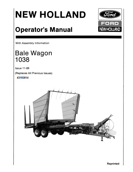 new holland 1038 bale wagon manual farm manuals fast rh farmmanualsfast com manual baleno hatchback manual bale wrapper