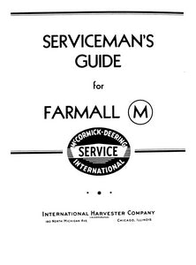 International Farmall M Tractor - Serviceman's Guide