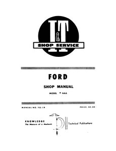 Additional pictures of the Ford NAA - I&T Shop Service Manual.