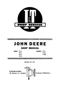 John Deere A B G H D M Mt Tractor Shop Manual Farm Manuals Model Engine Diagram Additional Pictures Of The