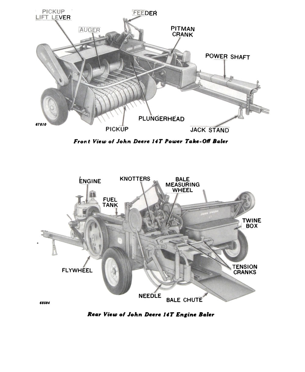 Additional pictures of the John Deere 14T Baler Manual.