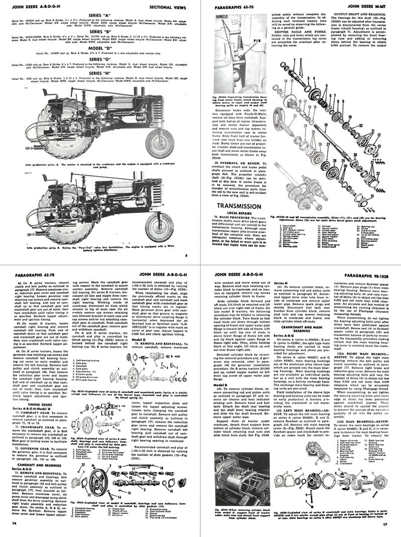 John Deere A B G H D M Mt Tractor Shop Manual Farm Manuals. Additional S Of The John Deere A B G H D. John Deere. 1949 John Deere B Transmission Diagram At Scoala.co