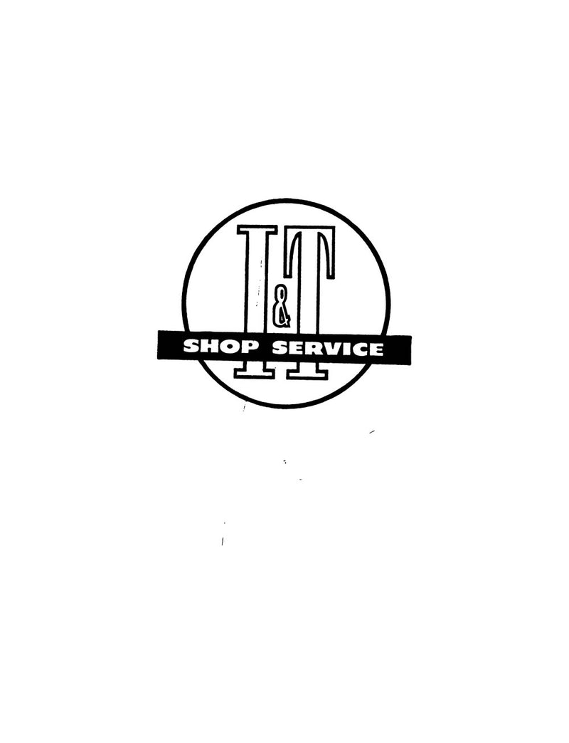 Ford NAA - I&T Shop Service Manual