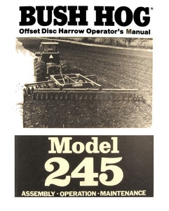 Bush Hog Model 245 Offset